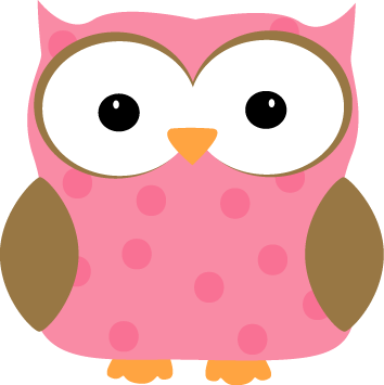 354x355 Pink Polka Dot Owl Clip Art 74 Images For Free Clip Art Animals