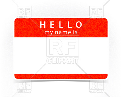 400x320 Textured Red Empty Name Tag Royalty Free Vector Clip Art Image