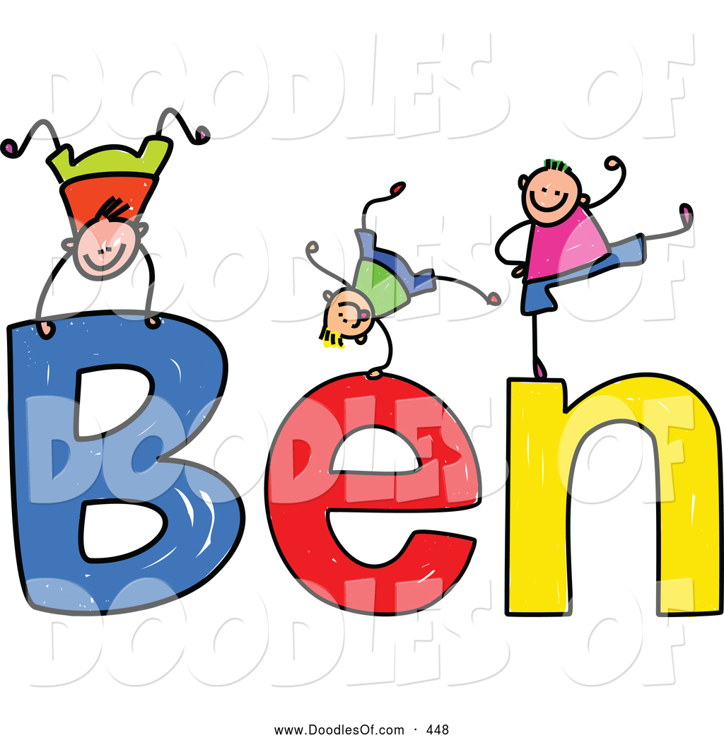 1024x1044 Vector Clipart Of A Childs Sketch Of Friendly Boys Playing On
