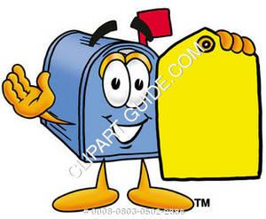 300x247 Cartoon Clipart Mailbox Name Tag