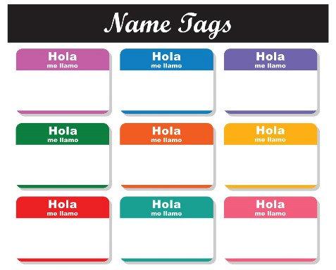 477x384 Items Similar To Hello Name Tags Spanish Hola Clipart Clip Art