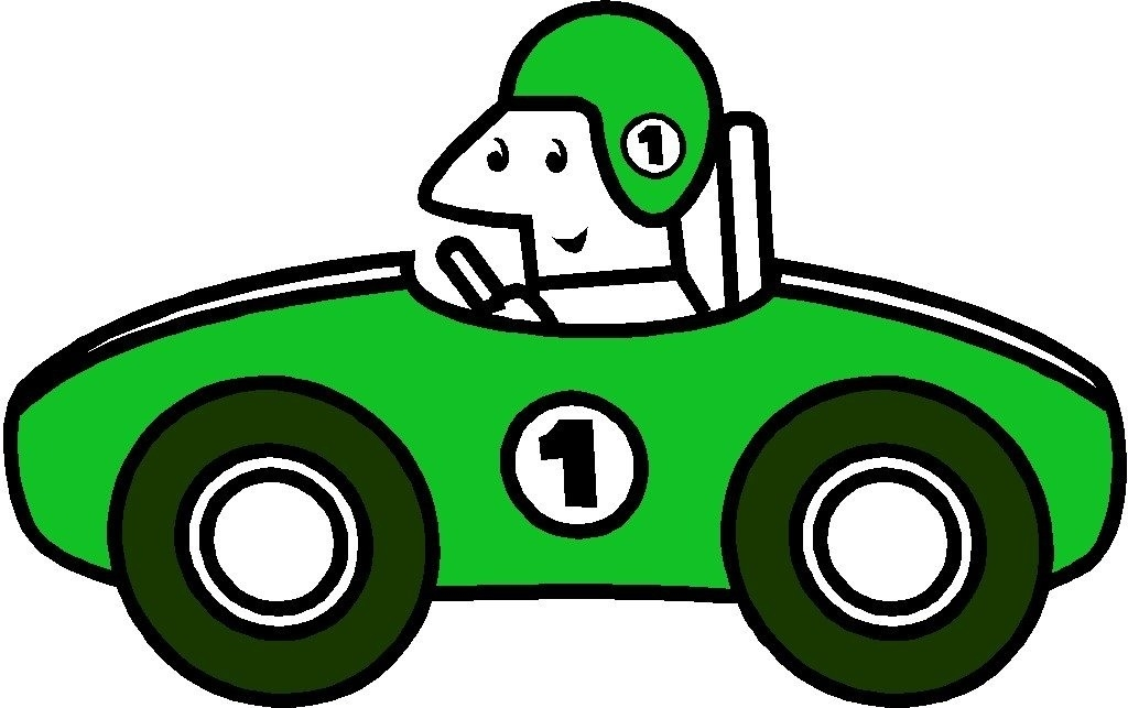 1024x643 Green Race Car Clip Art