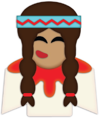 340x406 Emelin's Blog Clip Art Of A Native American Indian Girl With Long