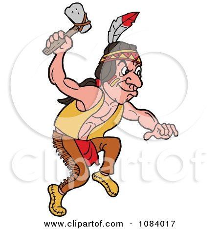 450x470 Clipart Native American Indian With An Axe