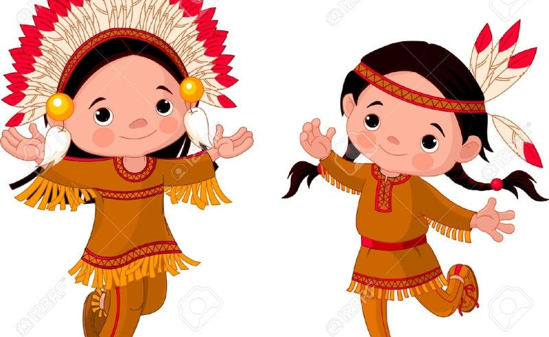 800x491 Native Americans Kids Clipart