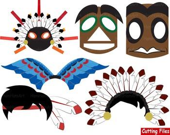 350x277 Props Indian Cutting Files Clip Art School Mask Face Native