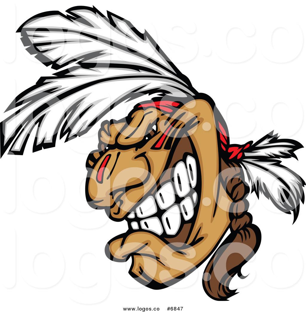 1024x1044 Royalty Free Clip Art Vector Logo Of A Native American Brave Man