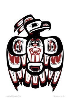 236x343 Pacific Northwest Raven Art Native American Inspired