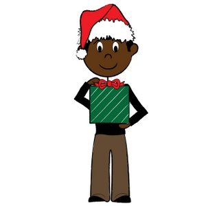 300x300 Free African American Christmas Clipart