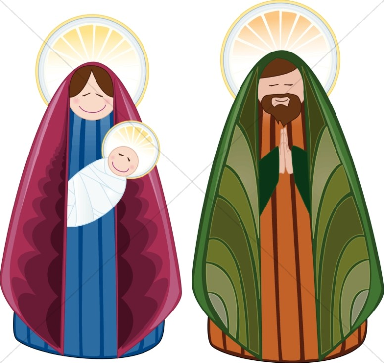 776x733 Cheerful Holy Family Characters Nativity Clipart