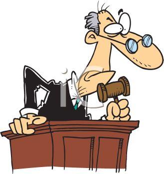 329x350 Mean Old Judge Cartoon