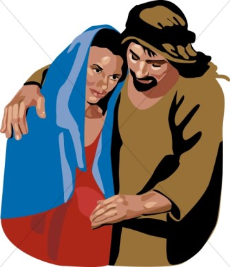 334x388 Nativity Characters Clipart