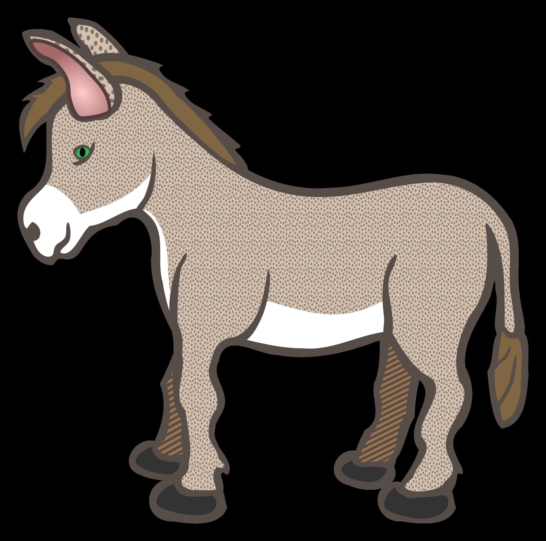 2424x2400 Nativity Donkey Clipart