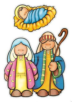236x331 The Nativity Children Free Clip Art