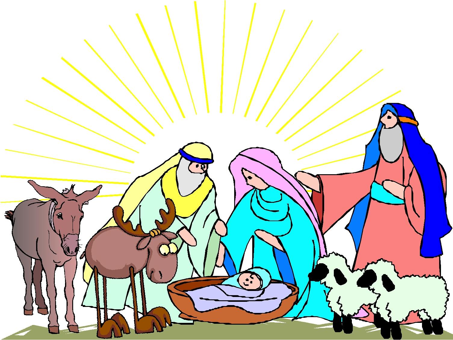 1505x1130 Cartoon Nativity Scene