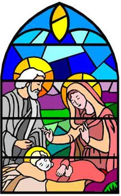400x643 Stained Glass Clipart Christmas