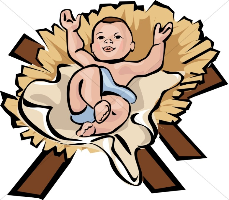 776x678 Baby Jesus In A Manger Clipart Nativity Scene With Wise Men