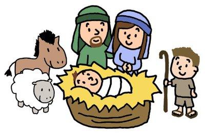 400x262 Cartoon Nativity Scene Clipart