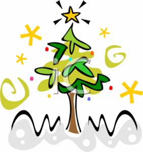 282x300 Christmas Clipart Picture Of Line Drawing Tree With A Star