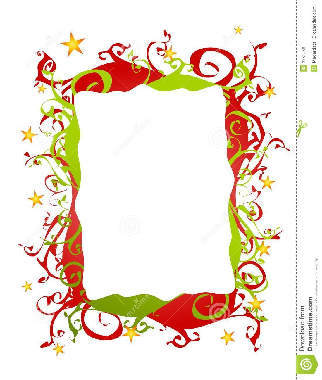 1101x1300 Christmas Star Border Clipart