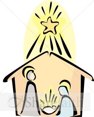 312x388 Nativity Scene With Radiant Star Of Bethlehem Nativity Clipart