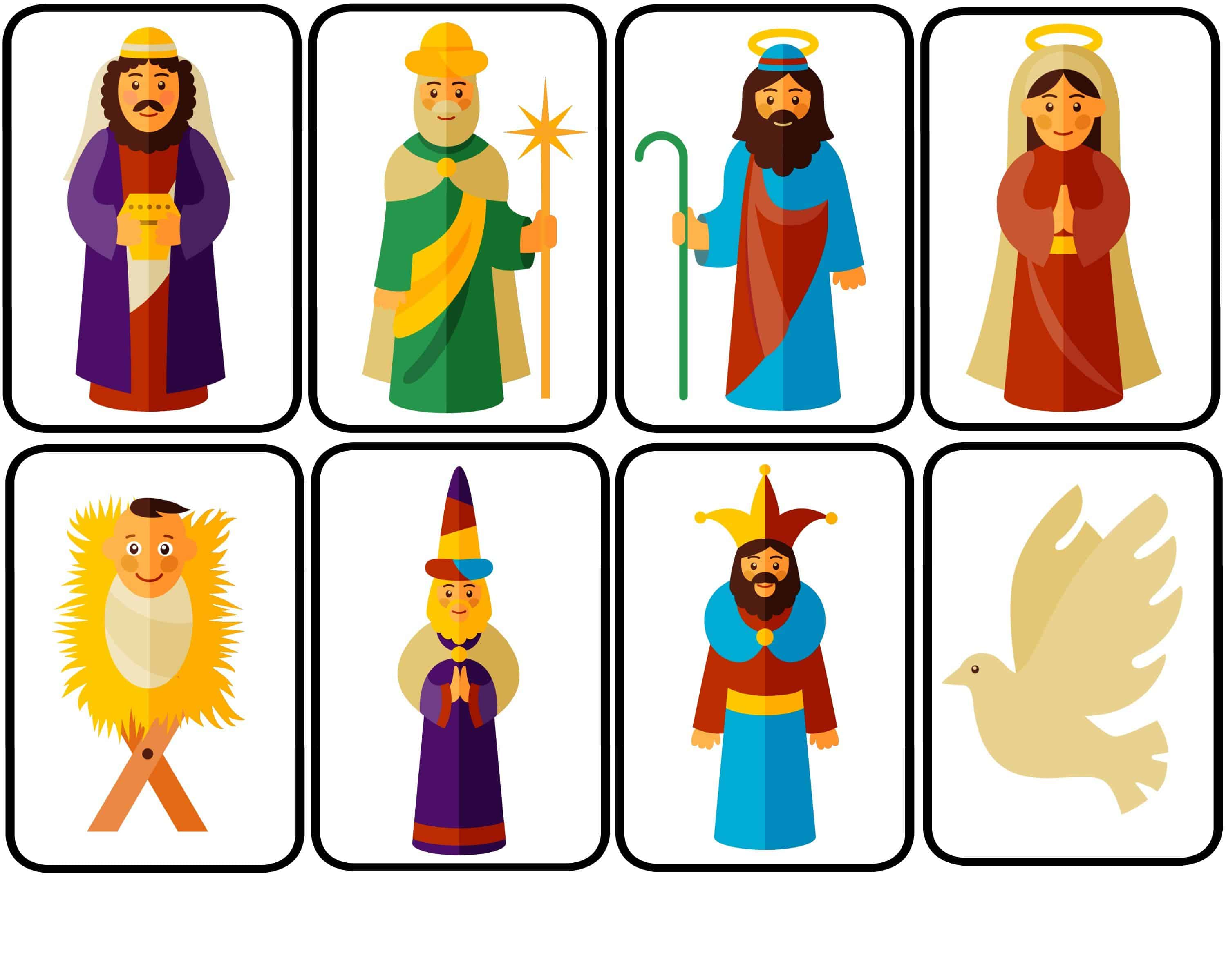 3000x2400 Nativity Puppets For Dramatic Play With Free Printable