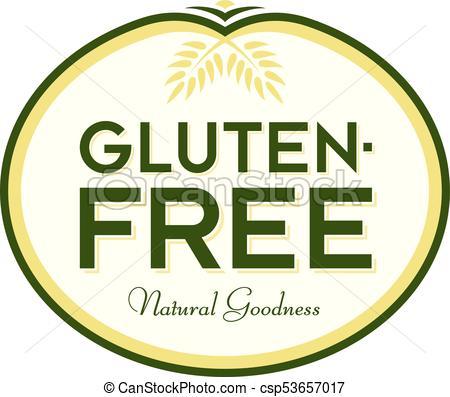 450x397 Gluten Free Natural Goodness Logo Symbol. Gluten Free Vector