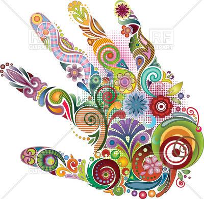 400x391 Ornate Hand