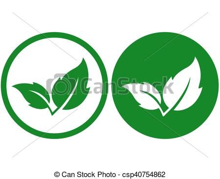 450x367 Two green leaves icons. Two natural green leaves icons on clip