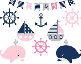 340x270 Grey Nautical Clipart, Nautical Clip Art Set, Cute Sailing Clipart