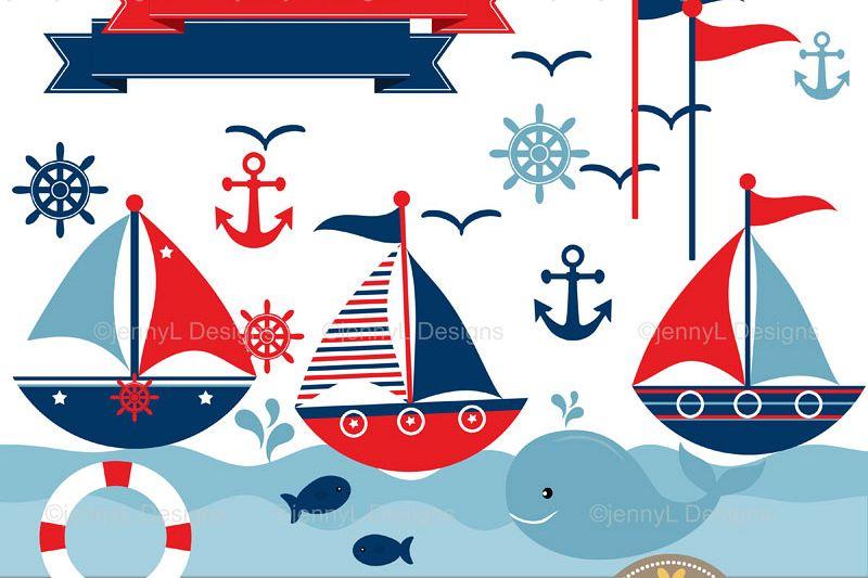 800x533 Nautical Sailing Clipart, Sail Boat, An Design Bundles