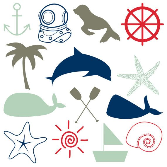 570x570 Nautical Pattern Cliparts