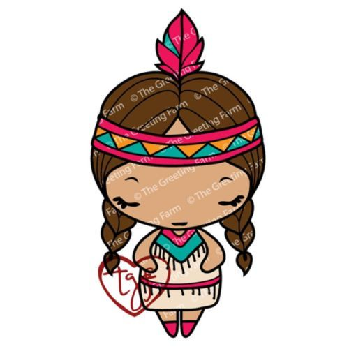 500x500 Navajo Anya The Greeting Farm Cling Mount Rubber Stamp Stamping