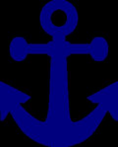 240x298 Dark Navy Anchor Clip Art