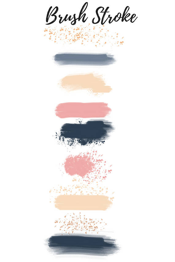 570x855 Luxury Brush Stroke Clipart Navy Paint Brush Stroke Clip Art Paint