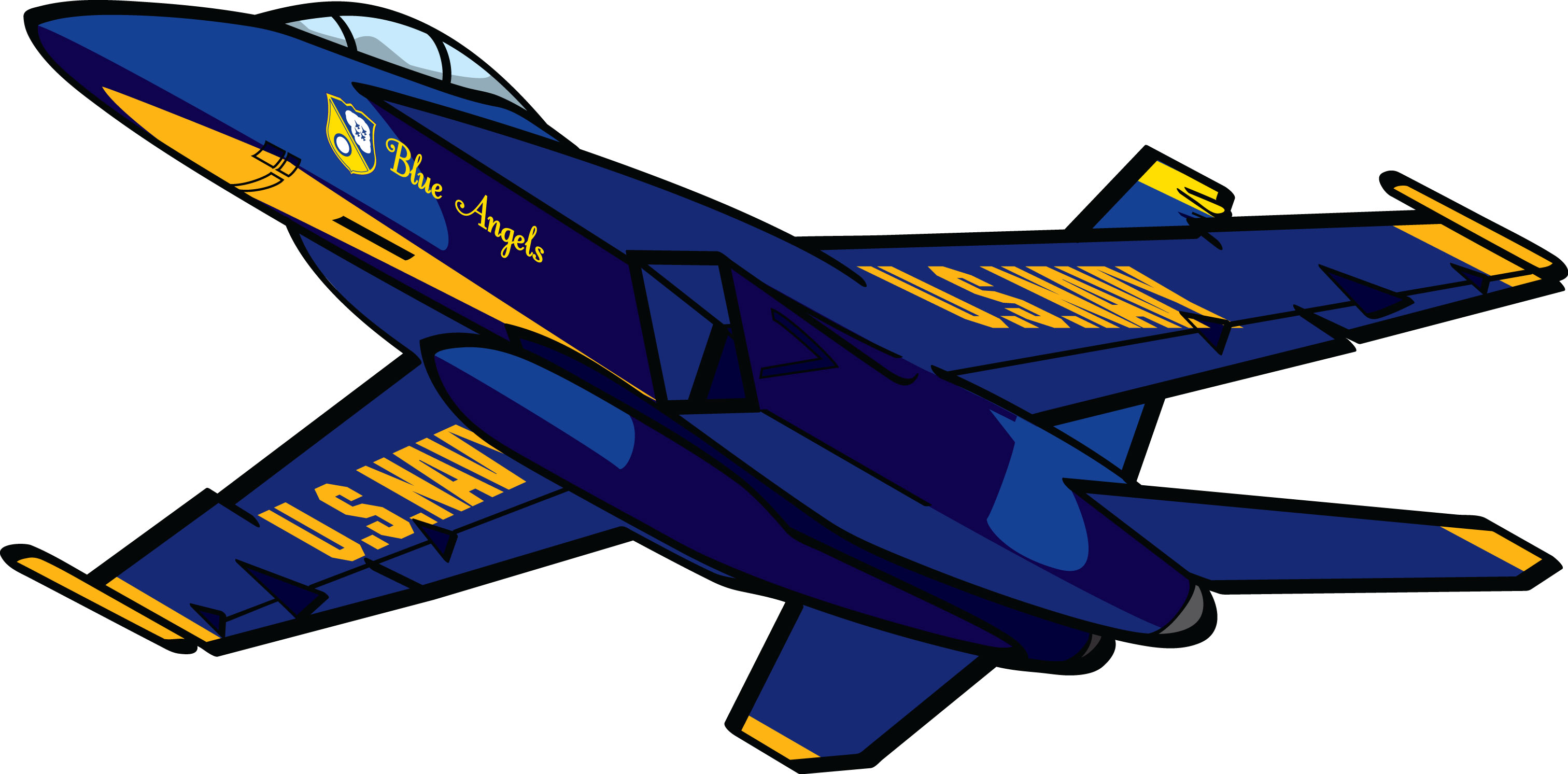 3025x1493 Navy Blue Angels Clipart