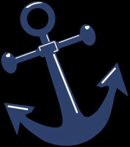 264x299 Tilted Anchor Clip Art