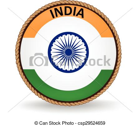 450x404 India Seal. Flag Seal Of India. Clipart Vector