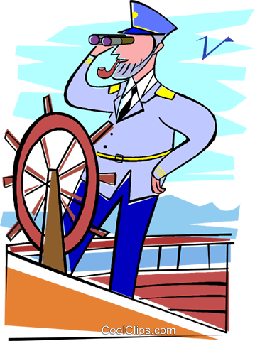 359x480 Captain, Ship, Navy, Sailing Royalty Free Vector Clip Art