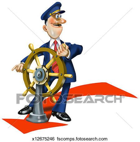 450x457 Fancy Ship Captain Clipart