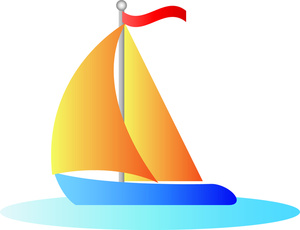 300x230 Sailing Boat Clipart Navy Sailboat