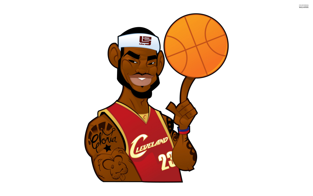 1024x640 Cartoon Nba Drawings Nba Clipart Nba Players