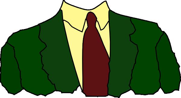 600x324 Men Suit Tie Clip Art