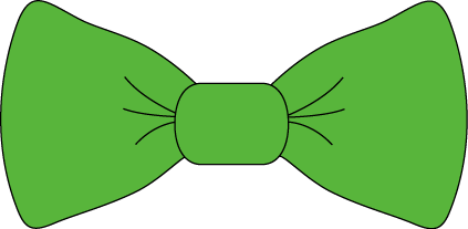 423x207 Simple Clipart Tie Green Bow