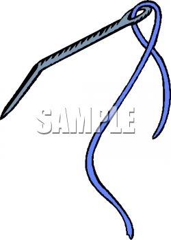 250x350 Royalty Free Clipart Image Bent Needle With Thread