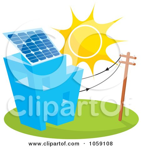 450x470 Royalty Free Vector Clip Art Illustration Of A Solar Powered