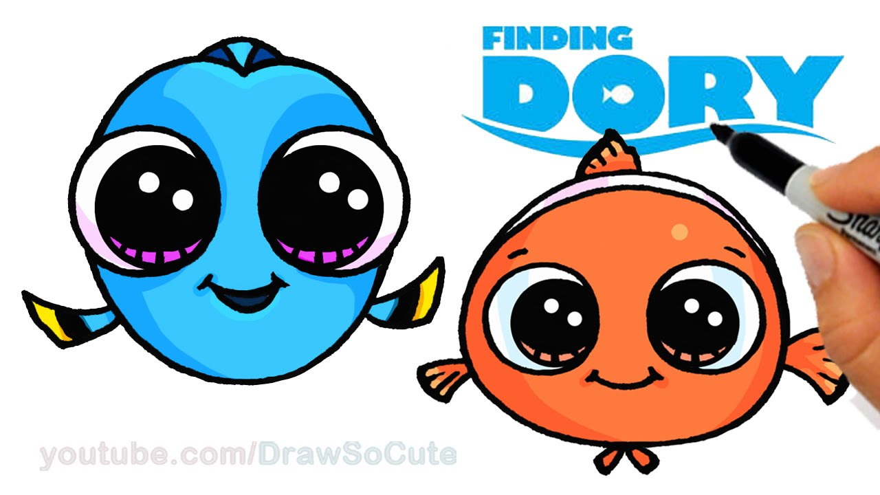 1280x720 How To Draw Baby Dory And Nemo Easy Step By Step Cute