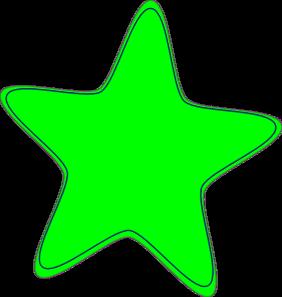 282x297 Neon Green Star Clip Art