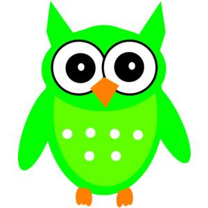 300x300 Neon Owl Clip Art