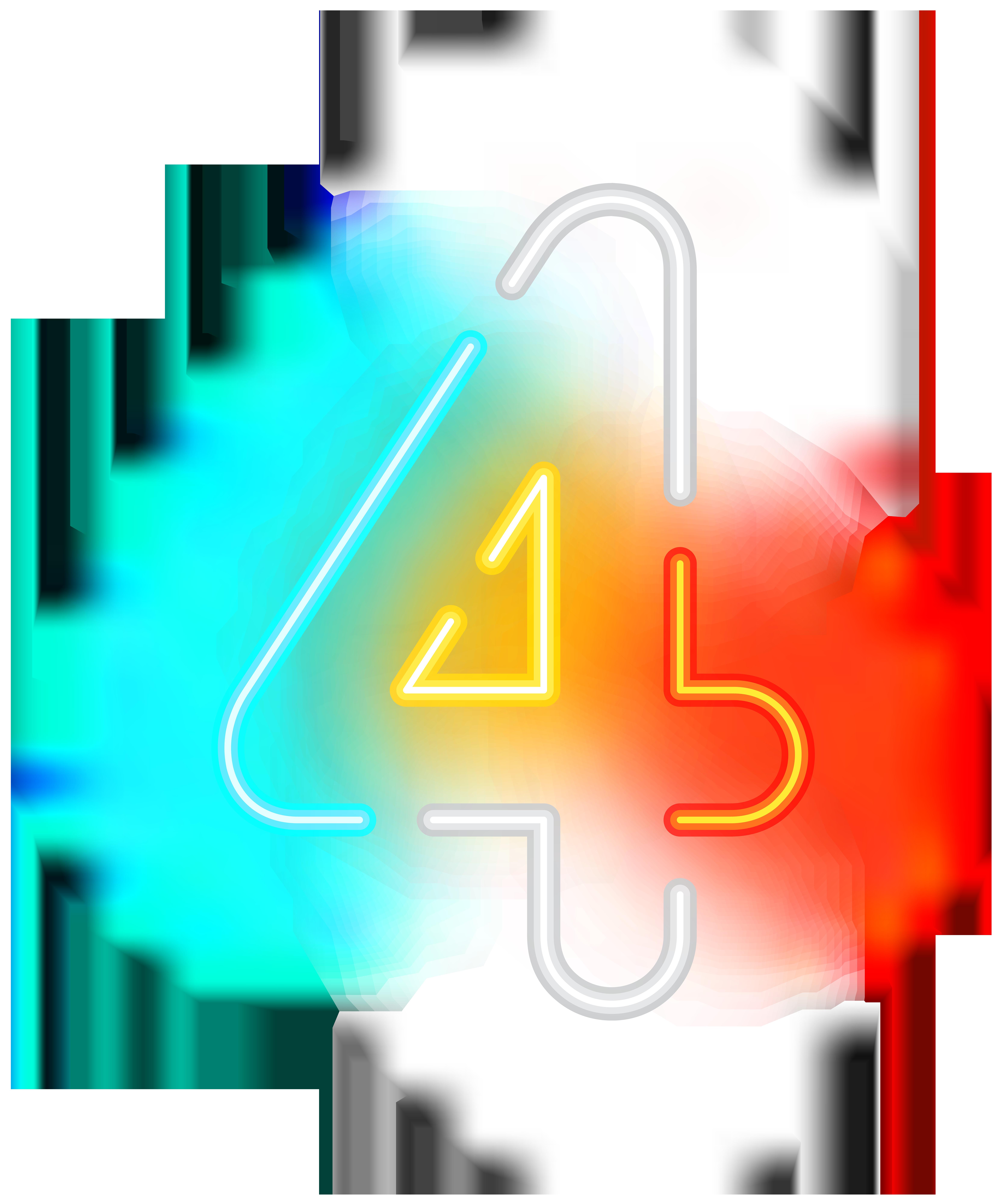 6664x8000 Number Four Neon Transparent Clip Art Imageu200b Gallery